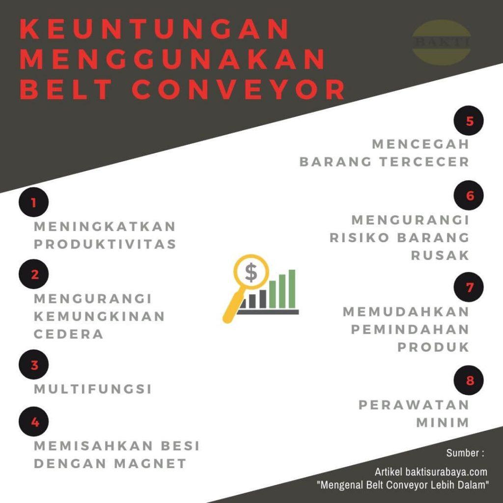 Keuntungan Menggunakan Belt Conveyor