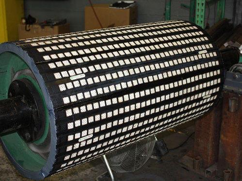 Lagging Keramik Cekung Pulley Drum Conveyor